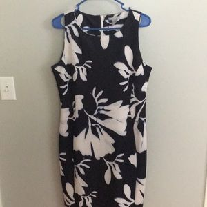 Floral dress. Navy with white flowers. Never worn